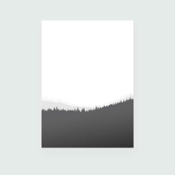 Surland - Sauerland - Poster grey Treeline